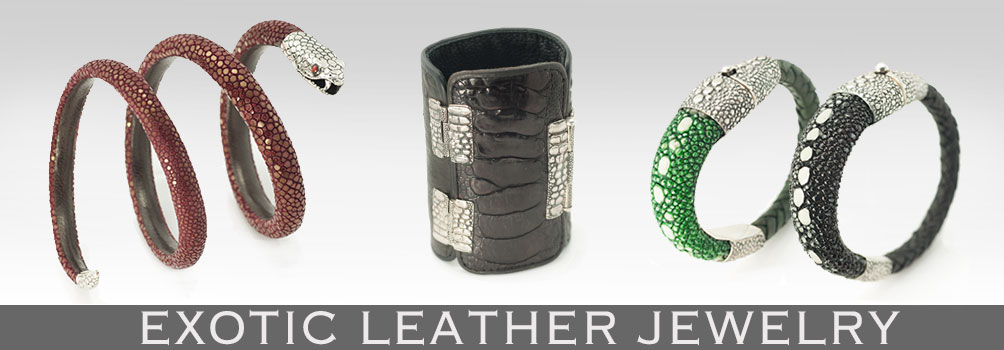 EXOTIC LEATHER JEWELRY